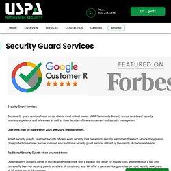 #1 Security Guard Service - Armed & Unarmed Security Patrol Company