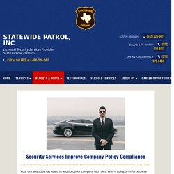 Security Services Improve Company Policy Compliance
