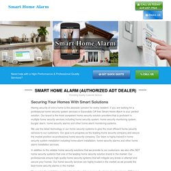 Smart Home Alarm, best home security alarms services Escondido CA