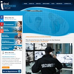 Why Security Services Are Necessary for Any Business