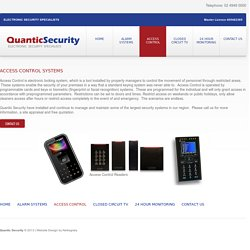 Security And Access Control Systems - quanticsecurity.com.au