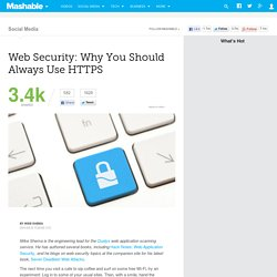 Web Security: Why You Should Always Use HTTPS