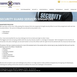 Security Guard Services Singapore