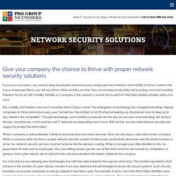 Best Network Security Solution and Services – Pro Group Networks LLC Pro Group Networks