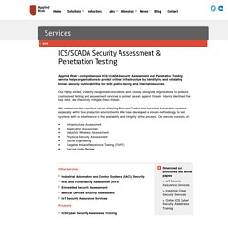 ICS/SCADA Security Assessment & Penetration Testing