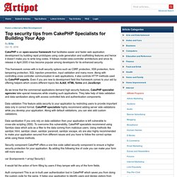 Top security tips from CakePHP Specialists for Building Your App