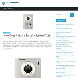 How Does A Home Security System Works