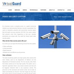 VIDEO SECURITY SYSTEM - VirtualGuard