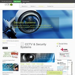 CCTV & Security Systems - LCE CONTRACTS