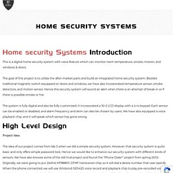 Facts about Home Security Systems