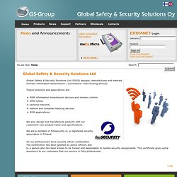 Global Safety & Security Systems Oy - Global Safety & Security S