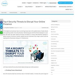 Top 4 Security Threats to Disrupt Your Online Presence