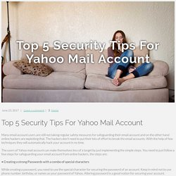 Top 5 Security Tips For Yahoo Mail Account