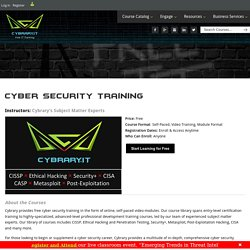 Free Online Cyber Security Training - Cybrary