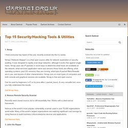 Top 15 Security/Hacking Tools & Utilities