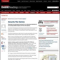 Security War Games