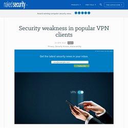 Security weakness in popular VPN clients