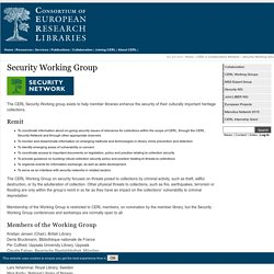 CERL / Security Working Group