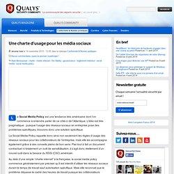 Une charte d'usage pour les média sociaux