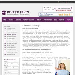 Sedation Dentistry Northern Virginia