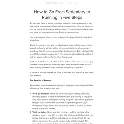 How to Go From Sedentary to Running in Five Steps | zen habits