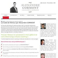 """Pdf drague : Ebook séduction """"Le code de l'amour"""" par Alexandre Cormont"""