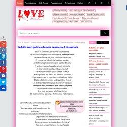 Séduite avec poèmes d'amour sensuels et passionnés