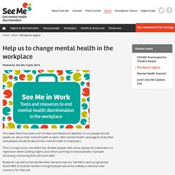 Workplace stigma