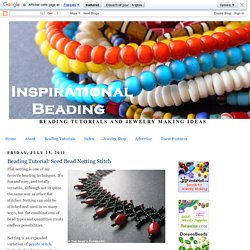 Beading Tutorial: Seed Bead Netting Stitch