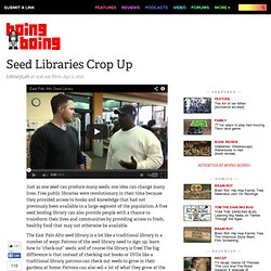 Seed Libraries Crop Up