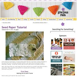 Seed Paper Tutorial | - StumbleUpon