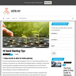 10 Seed-Starting Tips