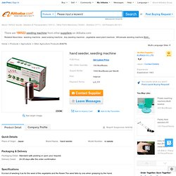 Hand Seeder,Seeding Machine - Buy Seeding Machine,Seeder,Agricultural Machine Product on Alibaba