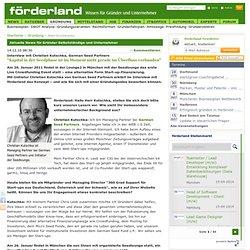 """Interview mit Christian Kutschka, German Seed Partners - """"Kapital in der Seedphase ist im Moment nicht gerade im Überfluss vorhanden"""""""