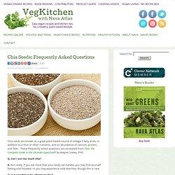 Graines de Chia: Foire aux questions