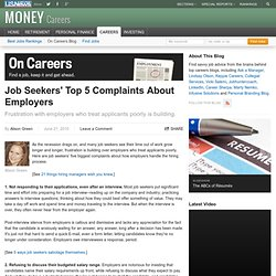 Job Seekers' Top 5 Complaints About Employers - On Careers (usne
