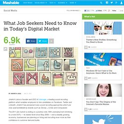 What Job Seekers Need to Know in Today's Digital Market