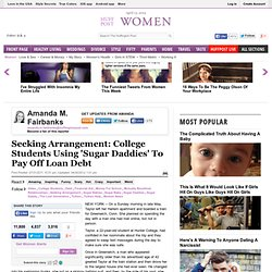 Seeking Arrangement: College Students Using 'Sugar Daddies' To Pay Off Loan Debt
