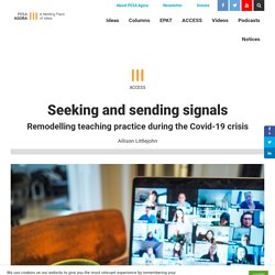 Seeking and sending signals - PESA Agora