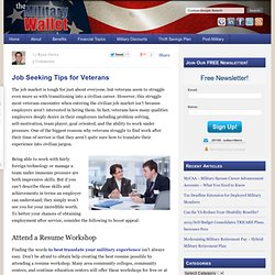 Job Seeking Tips for Veterans - How to Find a Civilian Job