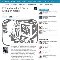 FBI seeks to track Social Media en masse