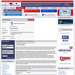 Science Teacher/s Job in Dubai UAE/Dubai,Bachelor Teaching jobs CA NY TX OH US UK.SeekTeachers™ Education openings