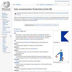Liste seemännischer Fachwörter (A bis M)