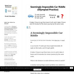 A Seemingly Impossible Car Riddle