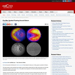 Pac-Man Seen Near Saturn - Space News