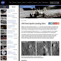 LRO Sees Apollo Landing Sites