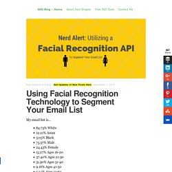 Segment Your Email List with a Facial Recognition API