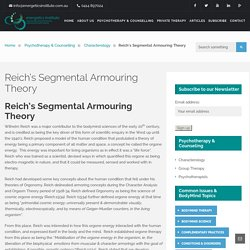 Reich's Segmental Armouring Theory - Energetics Institute
