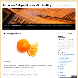 Ashbourne College's Business Studies Blog