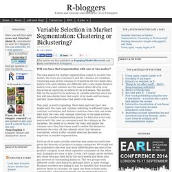 Variable Selection in Market Segmentation: Clustering or Biclustering?